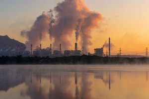 Air Pollution Over Coal Power Plant