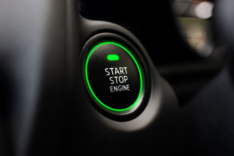 Hybrid Vehicle Start Button