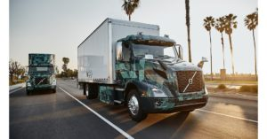 Volvo VNR Electric Truck And Trailer